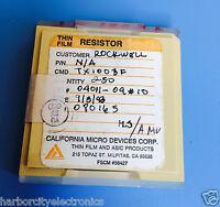 Tx1003f California Micro Devices Resistor Thin Film Rockwell 250/units