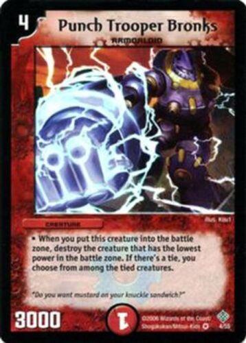 Duel Master TGC Punch Trooper Bronks DM-12 Thrash of the Hybrid Megacreature
