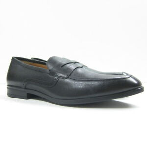 66023df607ba P-380186 New Bally Black Calf Print Washed Dress Loafers Shoes Size ...