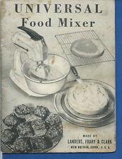 AO-016 - Universal Food Mixer Instruction Book Manual Vintage 1940's Original