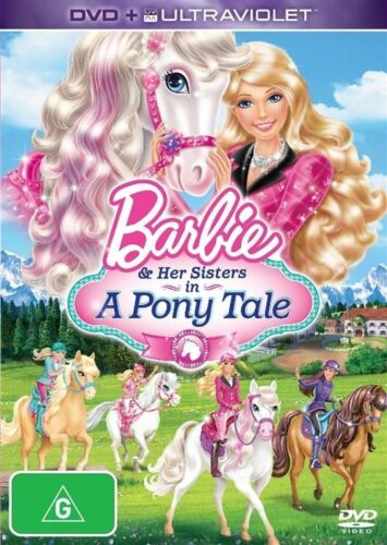 1 of 1 - BARBIE AND HER SISTERS IN A PONY TALE (DVD, 2013) BRAND NEW - REGION 4 - RATED G