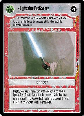 REFLECTIONS I star wars ccg swccg Anakin/'s Lightsaber FOIL Near Mint//Mint