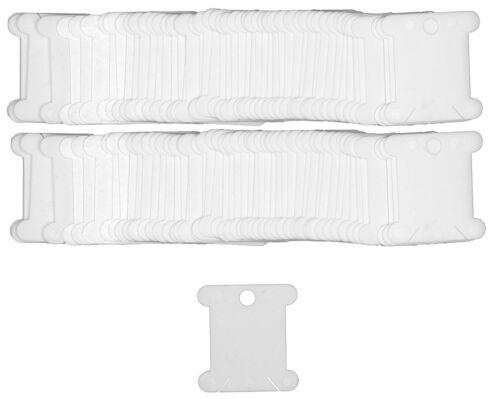 Plastique Floss bobines conserver Stranded cotons pack de 100 cartes