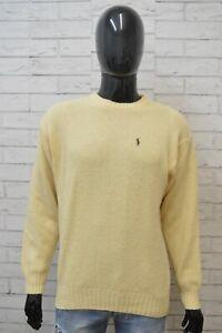 Maglione-Uomo-RALPH-LAUREN-Taglia-XL-Sweater-Cardigan-Lana-Pullover-Felpa-Giallo