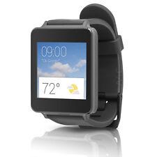 LG G Watch Black (W100) Android Wear Smartwatch w/ Rubber Wrist Band Titan Black