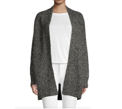 Vince Open-Front Wool Blend Cardigan Oversized Sma