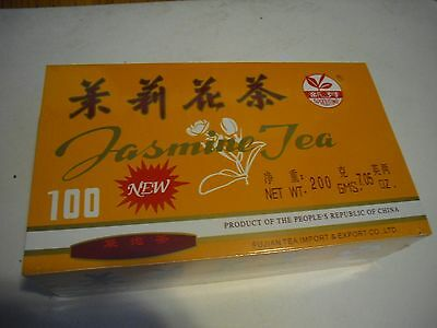 New ! 100PK Sprouting Jasmine Tea Bags 200g 7.05 oz Chinese Green Tea