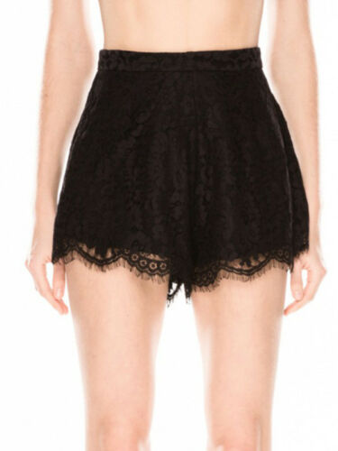 Lace Black 12 Electric Keepsake Scalloped High Loose White 10 Shorts New Waist b7Yygf6v