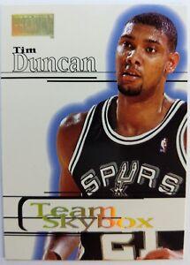 1997-97-98-SkyBox-Premium-Tim-Duncan-Rookie-RC-229-Team-Skybox-Spurs-HOF