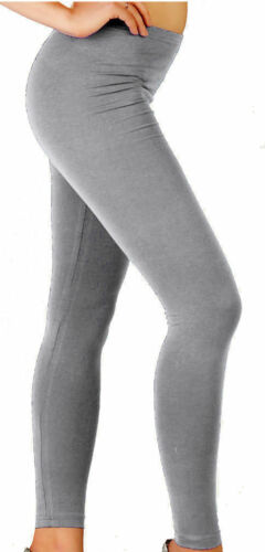 Womens Full Length Cotton//Viscose Leggings All UK Size /& Colours*CtnLg