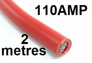 2m x 110 AMP Red  Cable 16mm Welding Cable Battery Starter 110AMP 110A Wire