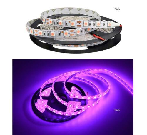 5M Waterproof DC LED Strip Light 5050 RGB RGBW white Pink Ice Blue Red tape lamp