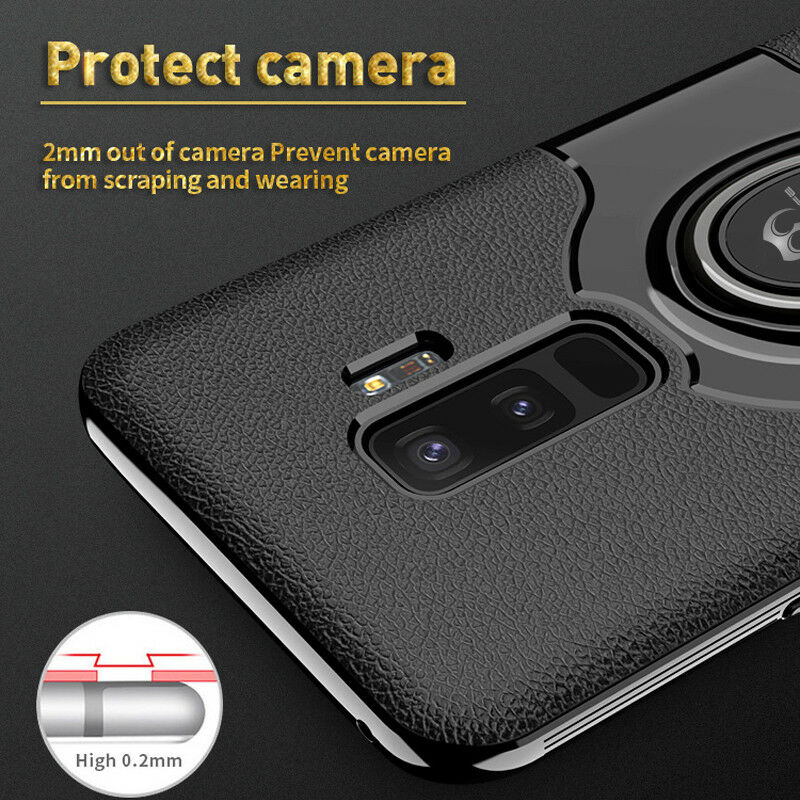 For Samsung Galaxy S9/S8/Plus/Note 9 8 Ring Holder Shockproof Armor Case Cover 4