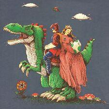 Medieval Princess Xl T-shirt Knight Stead Dragon Dinosaur Flying Turtle Mushroom