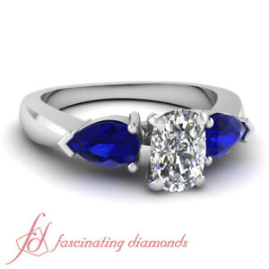 1-Ct-Cushion-Cut-Ideal-Diamond-Engagement-Ring-With-Pear-Blue-Sapphire-14K-Gold