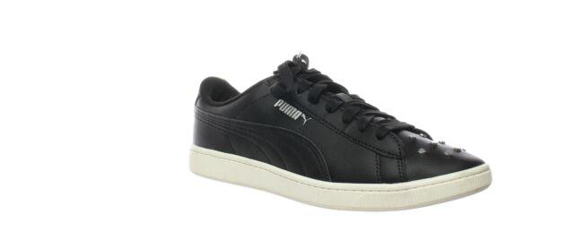 PUMA Womens Vikky V2 Black Fashion Sneaker Size 9.5 (639083)