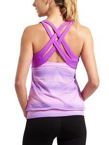 a5ff3e633cb3d Athleta Small Top STRIDE CRUNCH   PUNCH TANK Purple Bra Support S ...