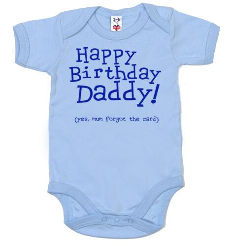 Lustig Baby Body Happy Birthday Daddy Mum Forgot die Karte Strampler Geschenk