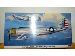 HASEGAWA-09615-REPUBLIC-P-47D-Thunderbolt-Razorback-348th-Fighter-Group-1-48