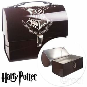 New-Harry-Potter-Hogwarts-Crest-Domed-Tin-Tote-Metal-Lunch-Box-School-Official