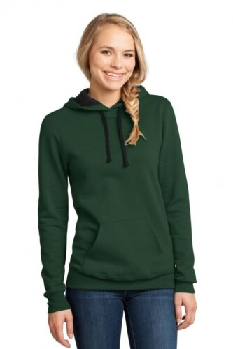 District Juniors The Concert Fleece Pull Over Classic Hoodie Forest Green XS