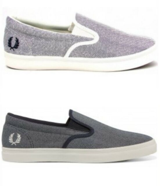 MENS FRED PERRY UNDERSPIN SLIP-ON