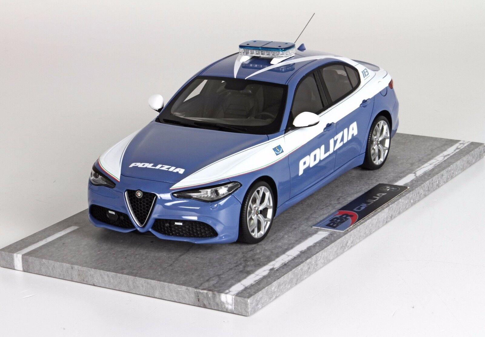 Alfa Romeo Giulia Fast Police Version 2016 1 18 Scale BBRC 1829 poles