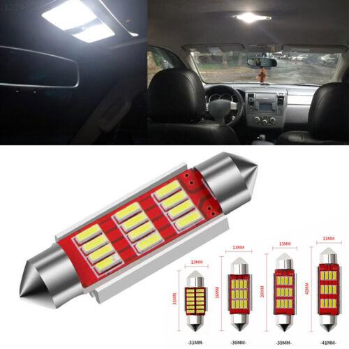 617B Durable 31//36//39//41mm SMD 4014 Rear Car Styling LED Reading Light C5W 12V