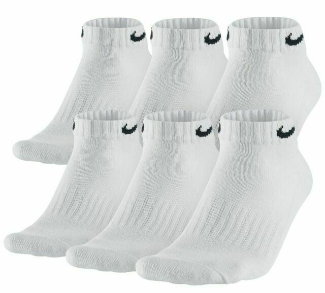 Nike SX7672 Men's Low Cut Dri-fit Socks, White/Black - 6 Pair