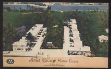 Postcard BOYNTON BEACH Florida/FL  Inlet Village Motor Court Aerial view 1930's