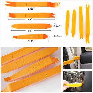 4 pcs car interior panel door lights molding trim removal installation tool kit ebay. Black Bedroom Furniture Sets. Home Design Ideas
