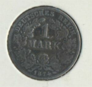 German-Empire-Jagerno-9-1874-C-very-fine-Silver-1874-1-Mark-7849301