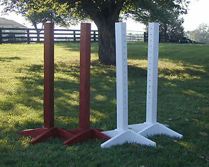 Horse Jumps Wooden Schooling Standards -Pair/6ft -#201