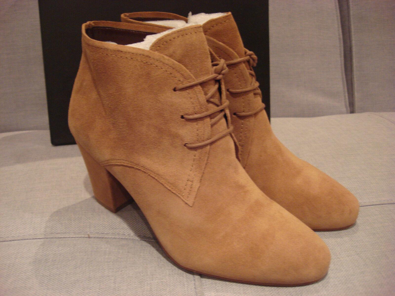 BCBG WOMEN'S DELPHINE BOOTS Schuhe SANDALWOOD OIL CALF SUEDE SIZE 10 - BRAND NEU