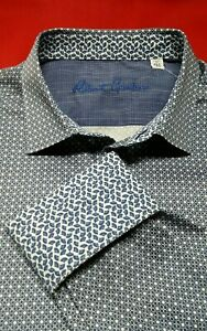 Robert-Graham-Men-039-s-XL-Blue-034-Dahlberg-034-Long-Sleeve-Button-Down-Shirt-198