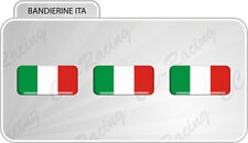 3 Adesivi Resinati 3D Bandiera Italia italy mini