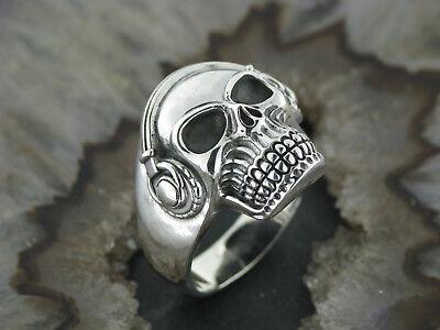 Silberring Gothic TOTENKOPFRING Totenkopf Rockabilly Skull Ring Silber 925