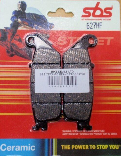 Yamaha WR 125 R and X 2009 - 2013 ceramic SBS front brake pads SBS627 627HF