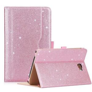 best service 3deda 3cf4b Details about Women Girls Samsung Galaxy Tab A 10.1 Case Stand Tablet Cover  Cute Glitter Pink