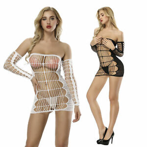 Lady-Sexy-Body-Suspenders-Fishnet-Stockings-Pantyhose-Hot-Lingerie-Mesh-Dresses