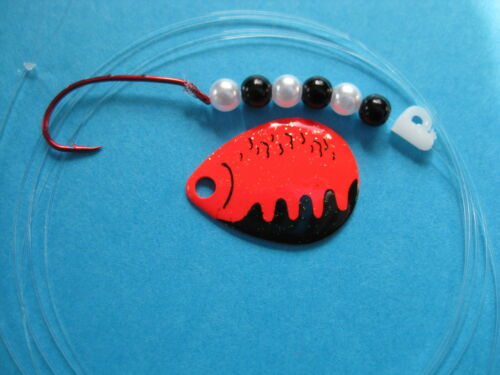 Red Perch Crystal Walleye 1 Hook Spinner Rigs