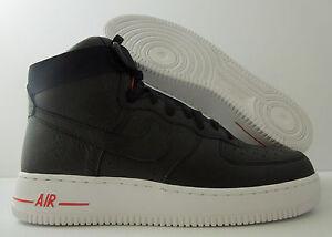 Auth Nike Air Force 1 High Premium Lebron James Black White 386161 009 Size 8