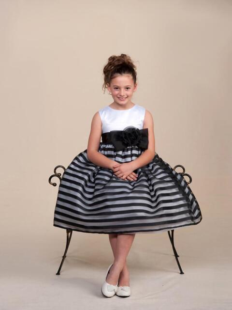 Stunning black striped white top flower girl party pageant dress stunning black striped white top flower girl party pageant dress crayon kids usa mightylinksfo