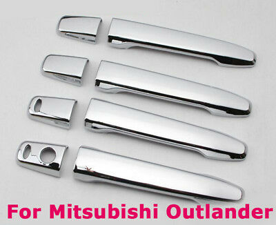 +2 Smart Keys for Mitsubishi Outlander RVR Lancer 8Pcs Chrome Door Handle Cover