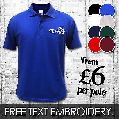 Custom Embroidered Printed Polo Shirts