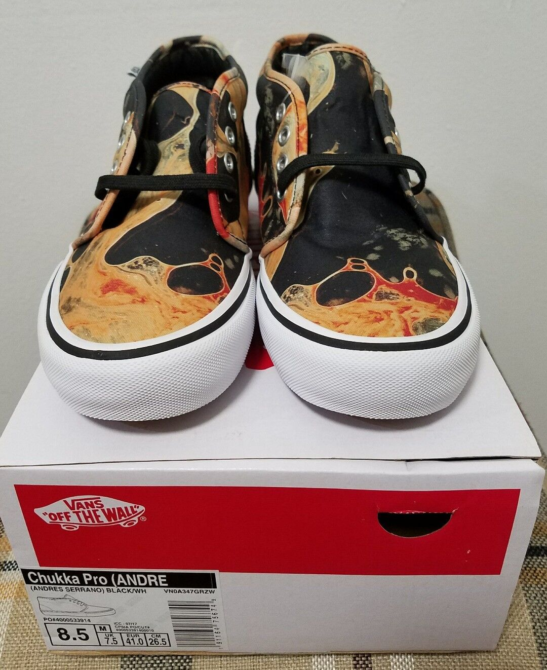 Supreme × Vans Blood & Semen Chukka SIZE 8.5 FW17 100% Authentic