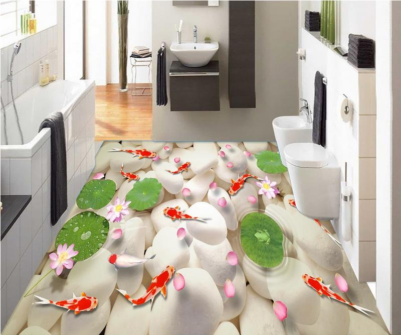 3D Karpfenteich 546 Fototapeten Wandbild Fototapete Tapete Familie DE Lemon