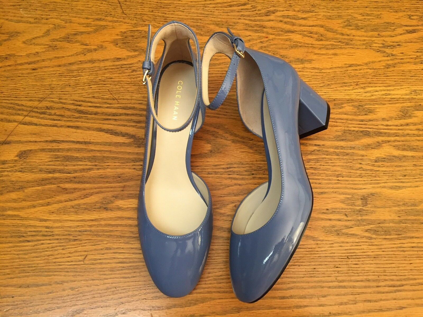 COLE HAAN PATENT LEATHER ANKLE STRAP HEEL Schuhe SIZE NEW SIZE Schuhe 6 4c08af