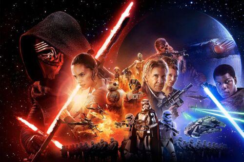 "NEW HTF STAR WARS THE FORCE AWAKENS 18/"" BIG FIGS KYLO REN LIGHTSABER 2015 MIB!"