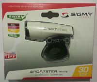 Sigma SPORTSTER LED 30 LUX WEISS Frontleuchte Fahrrad Licht StVZO-Zulassung 2015